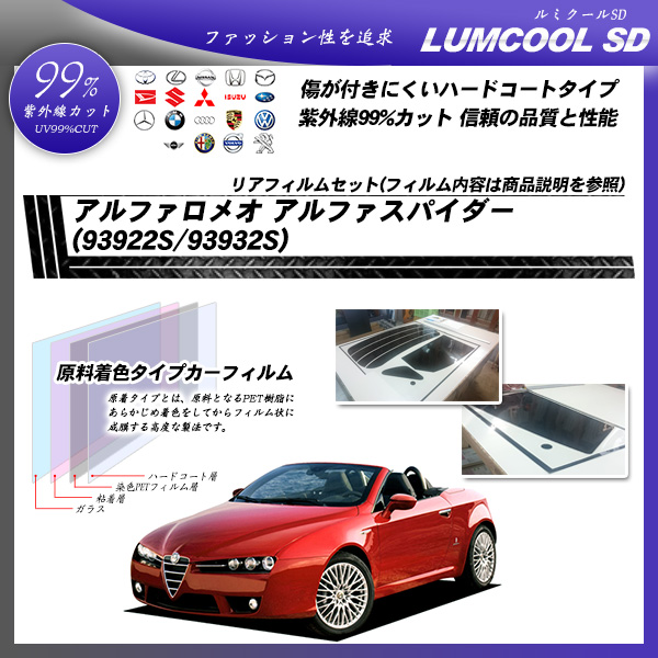 アルファロメオ アルファスパイダー (93922S/93932S) ルミクールSD カット済みカーフィルム リアセット