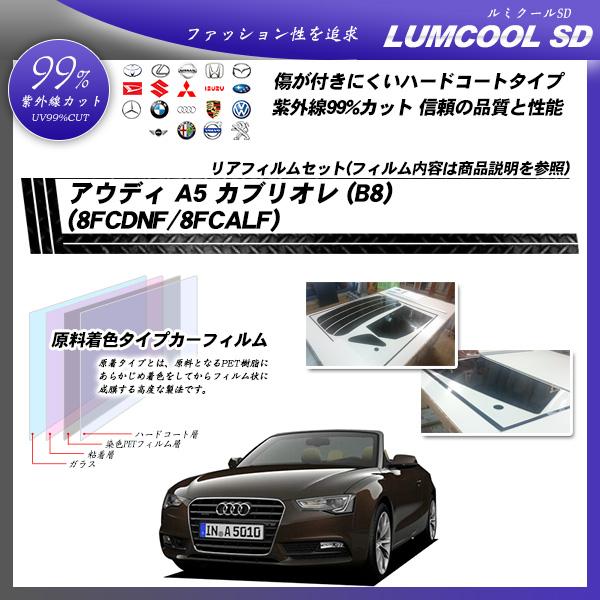 アウディ A5 カブリオレ (B8) (8FCDNF/8FCALF) ルミクールSD カット済みカーフィルム リアセット