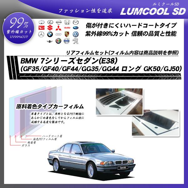 BMW 7シリーズ セダン(E38) (GF35/GF40/GF44/GG35/GG44 ロング GK50/GJ50) ルミクールSD カット済みカーフィルム リアセットの詳細を見る