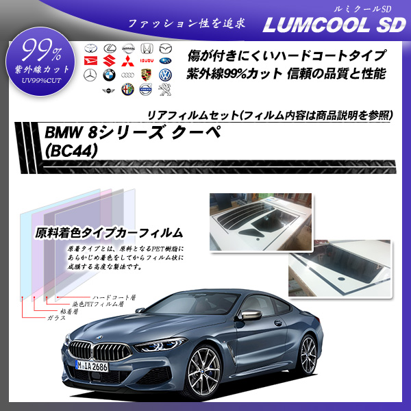 BMW 3シリーズ セダン (G20)(5F20) ルミクールSD カーフィルム カット済み UVカット リアセット スモーク