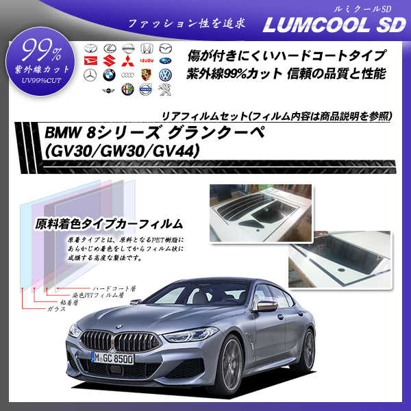 BMW 8シリーズ グランクーペ (GV30/GW30/GV44) ルミクールSD カット済みカーフィルム リアセットの詳細を見る
