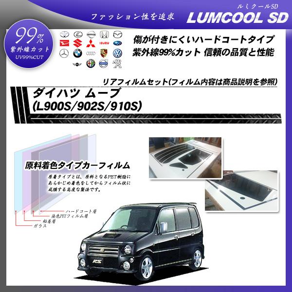 ダイハツ ムーブ (L900S/902S/910S) ルミクールSD カーフィルム カット済み UVカット リアセット スモークの詳細を見る