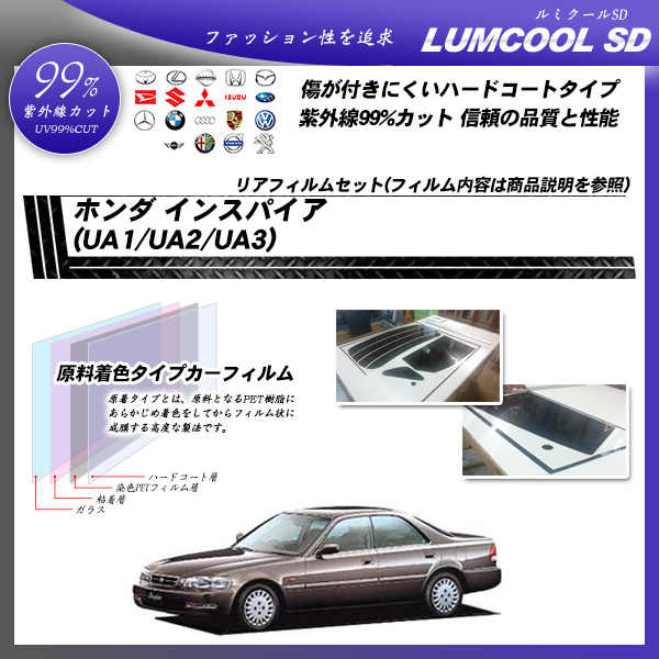 ホンダ インスパイア (UA1/UA2/UA3) ルミクールSD カット済みカーフィルム リアセットの詳細を見る