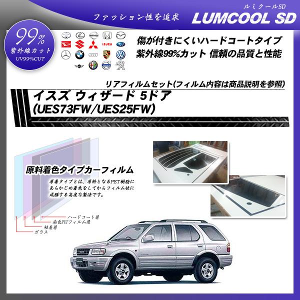 イスズ ウィザード 5ドア (UES73FW/UES25FW) ルミクールSD カーフィルム カット済み UVカット リアセット スモークの詳細を見る