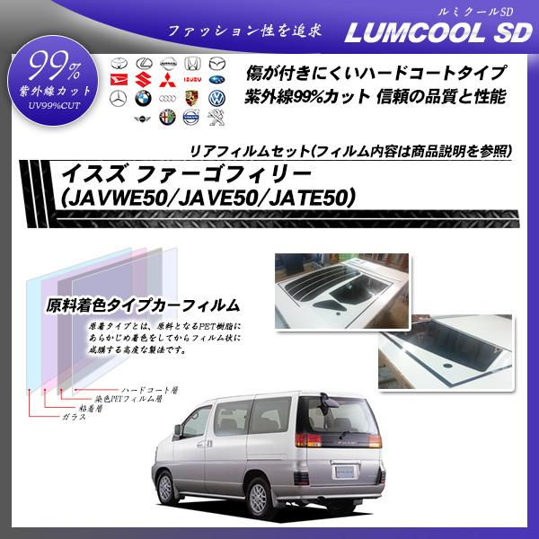 イスズ ファーゴフィリー (JAVWE50/JAVE50/JATE50) ルミクールSD カーフィルム カット済み UVカット リアセット スモークの詳細を見る