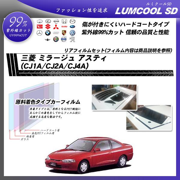 三菱 ミラージュ アスティ (CJ1A/CJ2A/CJ4A) ルミクールSD カット済みカーフィルム リアセットの詳細を見る