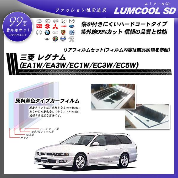 三菱 レグナム (EA1W/EA3W/EC1W/EC3W/EC5W) ルミクールSD カーフィルム カット済み UVカット リアセット スモークの詳細を見る