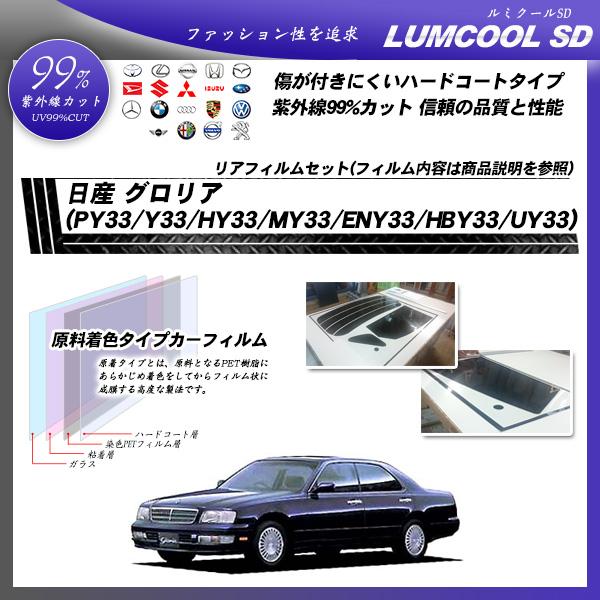 日産 グロリア (PY33/Y33/HY33/MY33/ENY33/HBY33/UY33) ルミクールSD カット済みカーフィルム リアセット