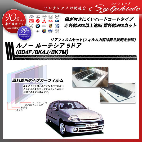 ルノー ルーテシア 5ドア (BD4F/BK4J/BK7M) シルフィード カット済みカーフィルム リアセットの詳細を見る