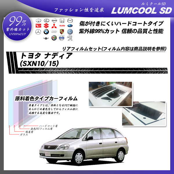 トヨタ ナディア (SXN10/15) ルミクールSD カット済みカーフィルム リアセットの詳細を見る