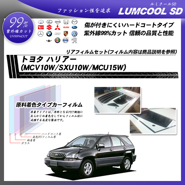 トヨタ ハリアー (MCV10W/SXU10W/MCU15W) ルミクールSD カット済みカーフィルム リアセットの詳細を見る