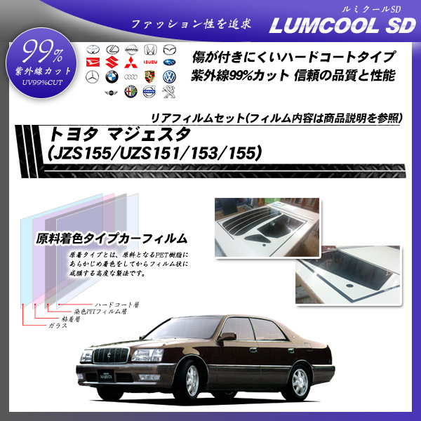 トヨタ マジェスタ (JZS155/UZS151/153/155) ルミクールSD カット済みカーフィルム リアセットの詳細を見る