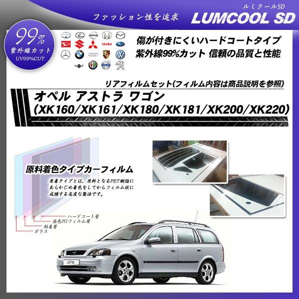 オペル アストラ ワゴン (XK160/XK161/XK180/XK181/XK200/XK220) ルミクールSD カーフィルム カット済み UVカット リアセット スモークの詳細を見る