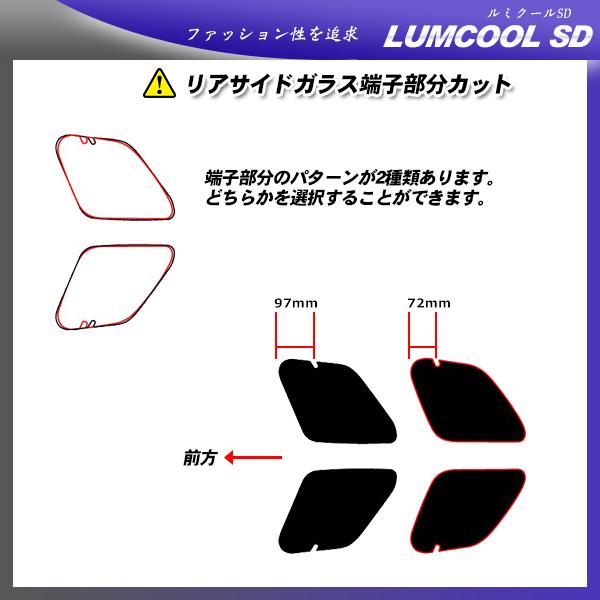 ランドローバー レンジローバーイヴォーグ 5ドア (LV2A) ルミクールSD サンルーフオプションあり カット済みカーフィルム リアセット