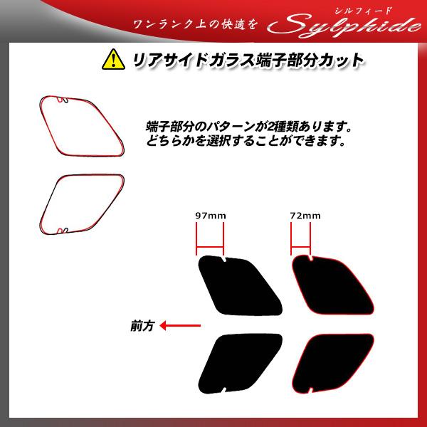 ランドローバー レンジローバーイヴォーグ 5ドア (LV2A) シルフィード サンルーフオプションあり カット済みカーフィルム リアセット