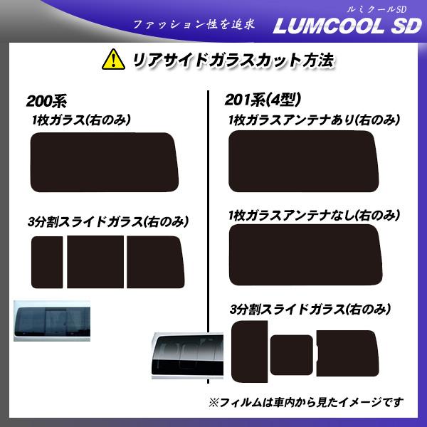 トヨタ ハイエース スーパーロング (KDH220/KDH225/TRH221/TRH226) ルミクールSD 熱整形済み一枚貼りあり カット済みカーフィルム リアセット