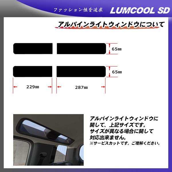 ローバー・ランドローバー ランドローバー ディフェンダー 5ドア (LE72XAA) ルミクールSD カット済みカーフィルム リアセット